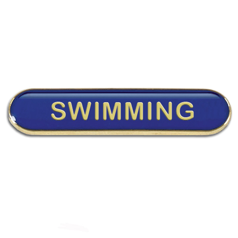 BarBadge Swimming Blue