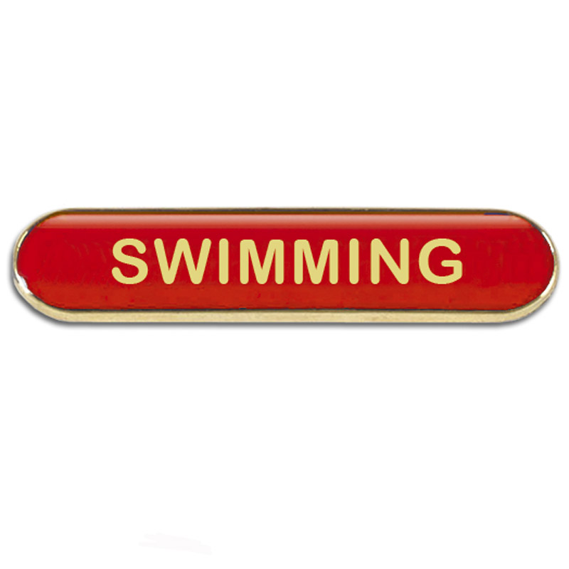 BarBadge Swimming Red