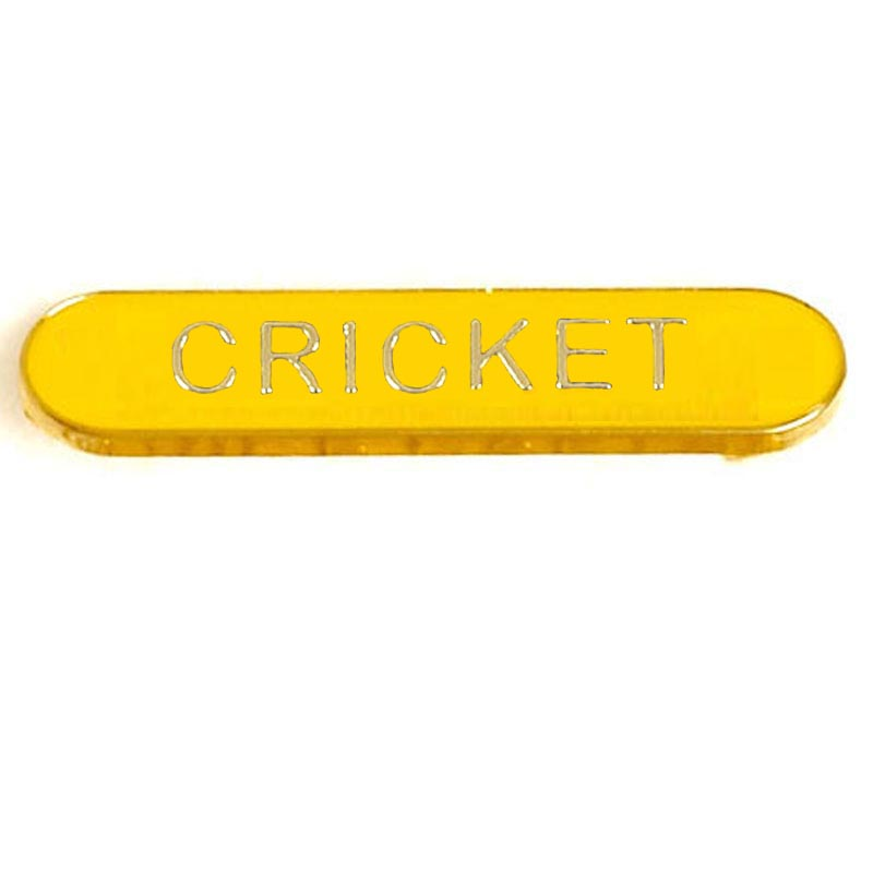 BarBadge Cricket Yellow