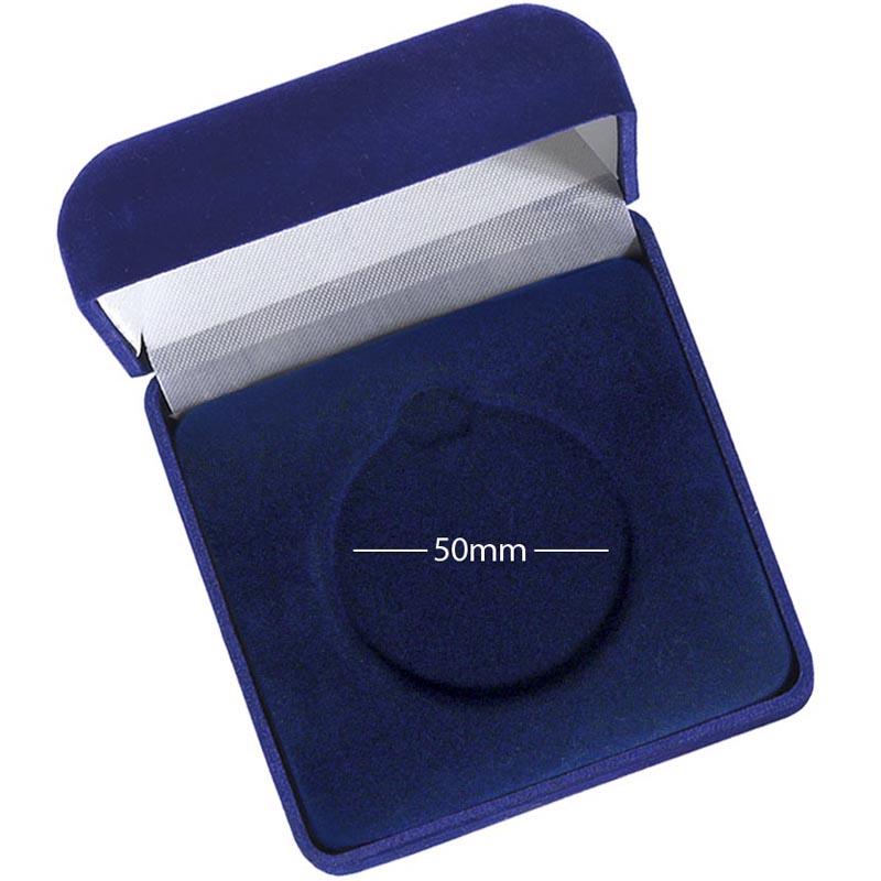 Medal Case50 Blue Velvet