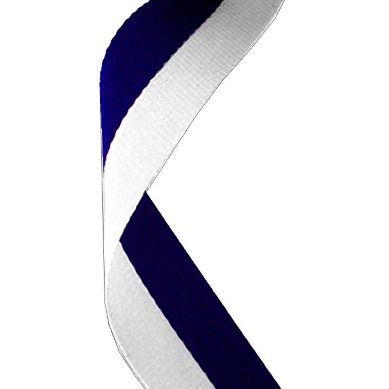 Medal Ribbon Navy Blue & White