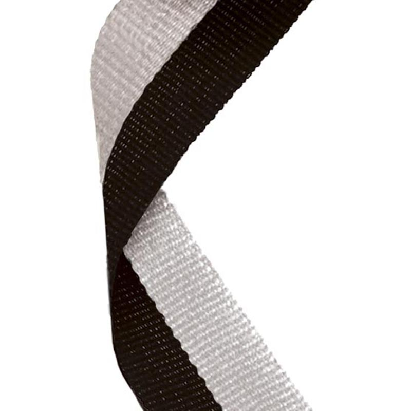 Medal Ribbon Black & Grey