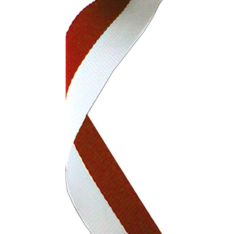 Medal Ribbon Red & White