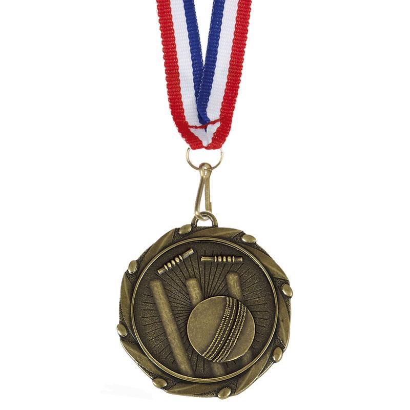 Combo Cricket Medal & Ribbon