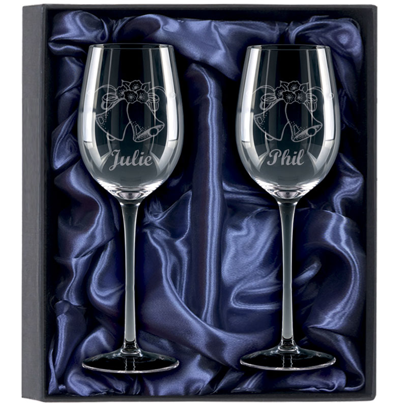 2 Red Wine Glasses Gift Set