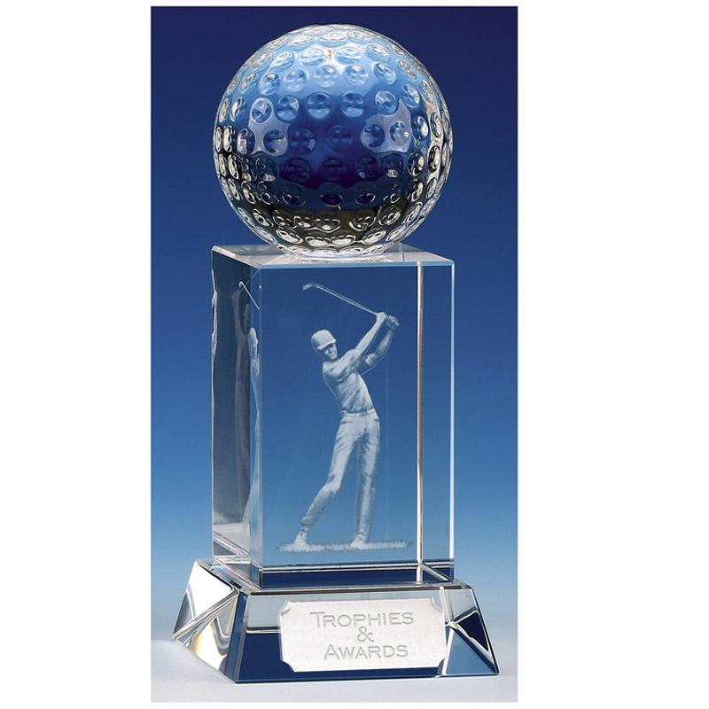 Mercury Golfer Optical Crystal