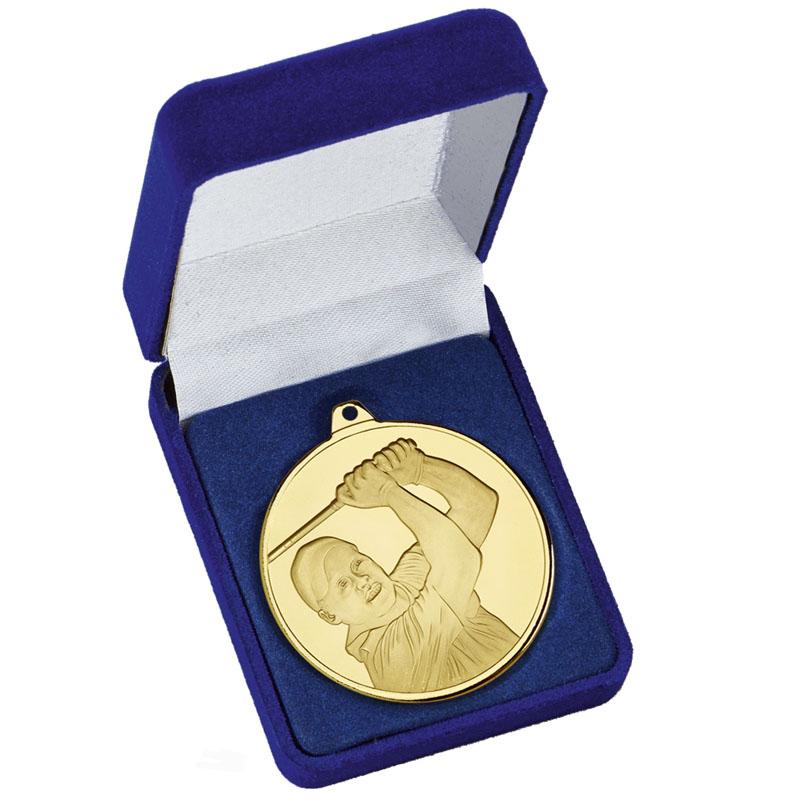 Frosted Glacier Golfer Medal in Case
