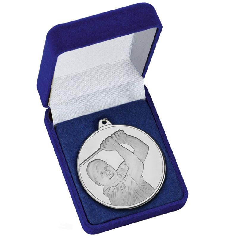 Frosted Glacier Golfer Medal in Case
