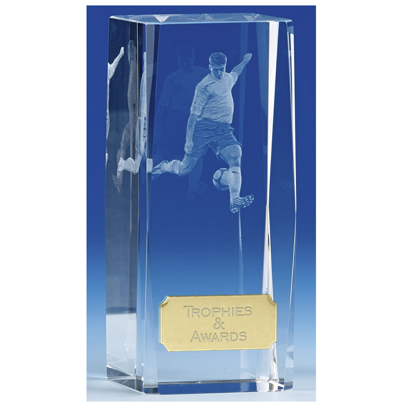 Clarity4 Crystal Football Block