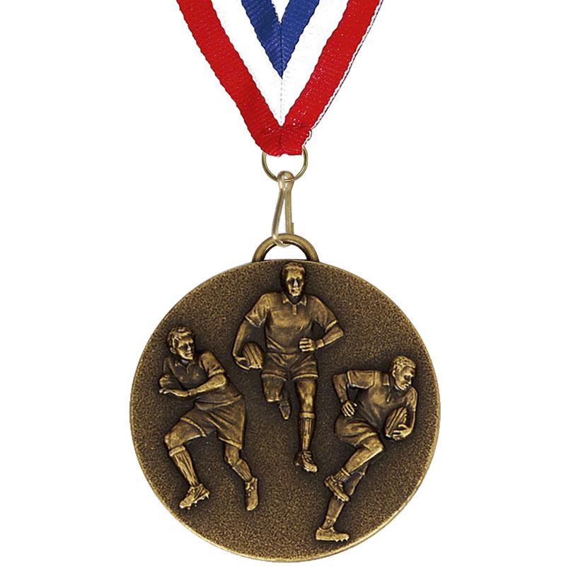 Target50 Rugby Medal with RWB