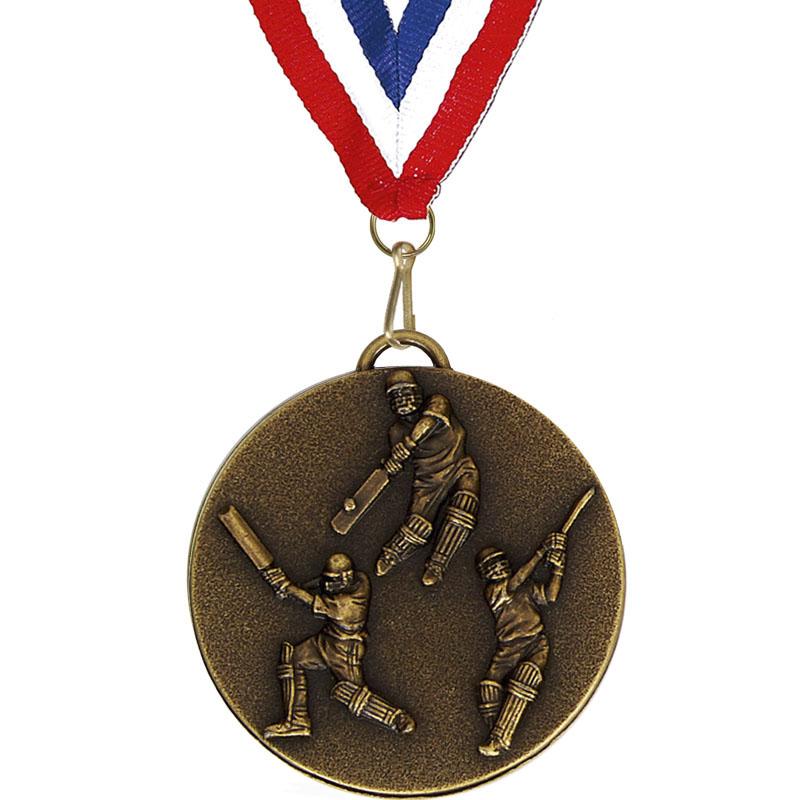 Target50 Cricket Medal with RWB